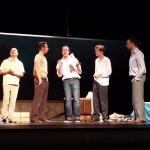 """Das Ensemble von """"Die Comedian Harmonists"""" bei der Probe."""