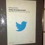 Perfekt organisiert: Der erste TweetUp im Theater Koblenz.